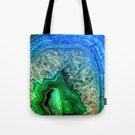 Turquoise Green Agate Mineral Gemstone Tote Bag