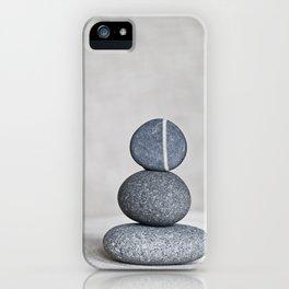 Zen cairn pebble stone balance grey iPhone Case