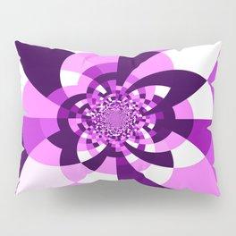 Purple Kaleidoscope Mandala Pillow Sham