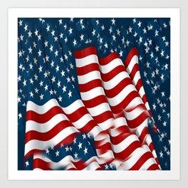 "ORIGINAL  AMERICANA FLAG ART ""STARS N' BARS"" PATTERNS Art Print"