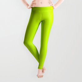 Fluorescent Yellow - solid color Leggings
