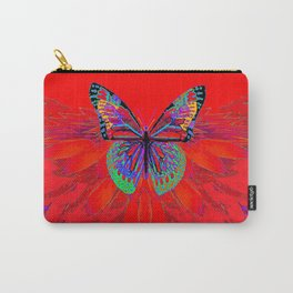 Infra-red Fantasy Butterfly Pattern Abstract Carry-All Pouch