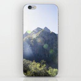 Breathe in the mountain light iPhone Skin