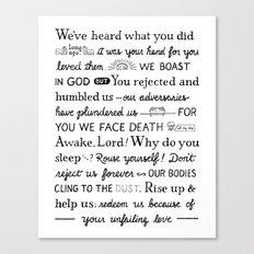 Psalm 44 Canvas Print