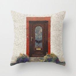 Front Door PhotoArt Throw Pillow