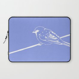 On a Blue Wire Laptop Sleeve