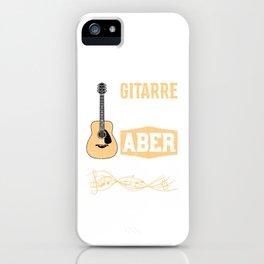Ein Tag Ohne Gitarre Bringt Mich Zwar Nicht Um Aber Warum Das Risiko Eingehen iPhone Case
