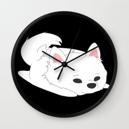 Samoyed Loaf Wall Clock