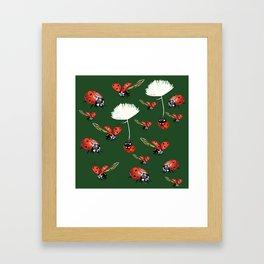 Ladybug flight Framed Art Print