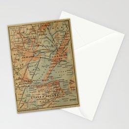 Vintage Jersey City, Newark, Elizabeth NJ Map (1894) Stationery Cards