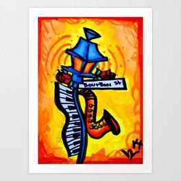 Bourbon St. Music post Art Print