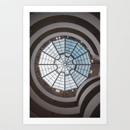 Guggenheim Museum ceiling Art Print