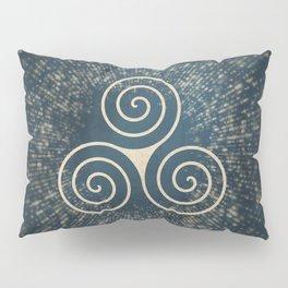 Triskelion Golden Three Spiral Celtic Symbol Pillow Sham
