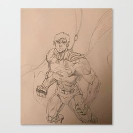 Superhero Defense(pencil) Canvas Print
