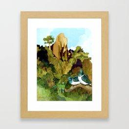 Love Under The Mountain Framed Art Print
