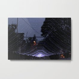 Purple lights Metal Print