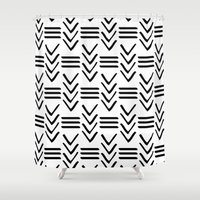 tribal Shower Curtains featuring Tribal  by HeyAle!