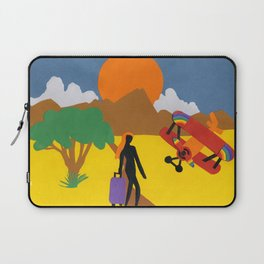 The Possibilities are Endless- Girl & Bi-Plane Laptop Sleeve