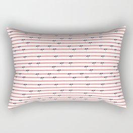 Dark Plants on Red Land Rectangular Pillow