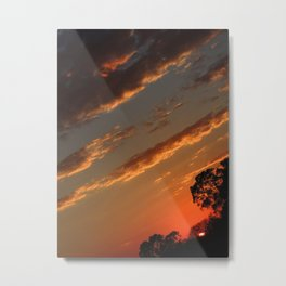 Sunset 45° Metal Print
