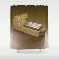 Chocolate Ship - 3D Art Shower Curtain