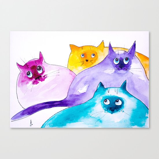 THOUGHTFUL CATS Canvas Print
