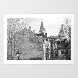 Sacre Coeur view Montmartre Paris Art Print