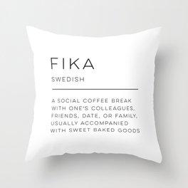 Fika Definition Throw Pillow
