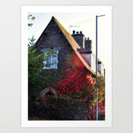 Stone Cottage Art Print
