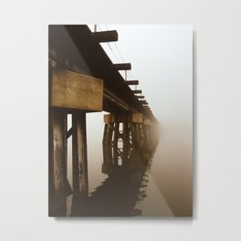 Train Bridge in the Fog-II Metal Print