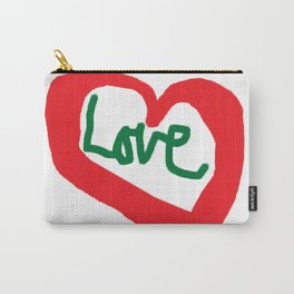 Love Red Heart Love Quotes Saying T-Shirt Carry-All Pouch