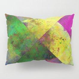 Dark Diamonds - Textured, patterned painting Pillow Sham