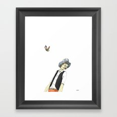 Spotted Crow and His Imagination Framed Art Print