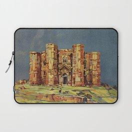 Apulia Castle del Monte vintage Italian travel ad Laptop Sleeve
