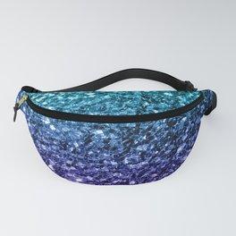 Beautiful Aqua blue Ombre glitter sparkles Fanny Pack