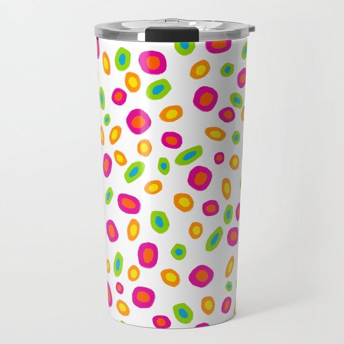 Colorful Circles Abstract Print Travel Mug