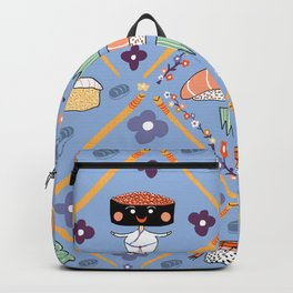 Japanese Kawaii Sushi Nodders Bobbleheads Backpack
