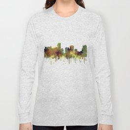 Miami, Florida Skyline SG - Safari Buff Long Sleeve T-shirt