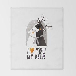 I love you my deer Throw Blanket