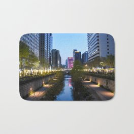 Stream at night Bath Mat