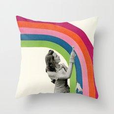 Paint a Rainbow Throw Pillow