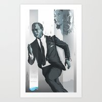 skyfall Art Prints featuring Skyfall by Berkay Daglar
