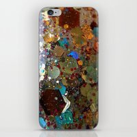 holographic iPhone & iPod Skins featuring Sistine Chapel holographic glitter macro by MDJcreations