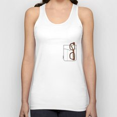Pockets - The Hipster - Unisex Tank Top