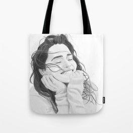 Smiling Emilia Clarke Tote Bag