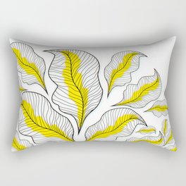 yellow---line Rectangular Pillow