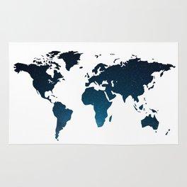 Heaven Meets Earth - Galaxy World Map Rug