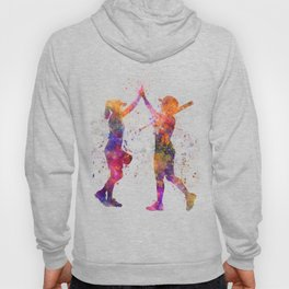 women playing softball 01 Hoody
