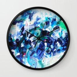 Blue abstract Wall Clock