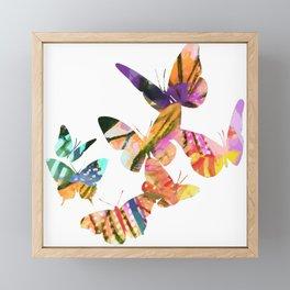 Butterfly Swarm Framed Mini Art Print